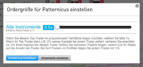 Ordergröße Patternicus
